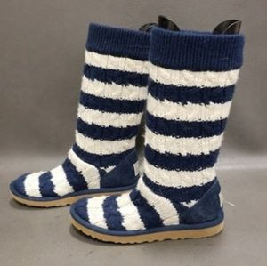 Striped UGG Boots Cable Knit UGGS Australia Cute